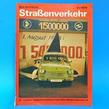 Der Deutsche Straßenverkehr 9/1978 DDR Runderneuerung Wohnanhänger Zündanlage G