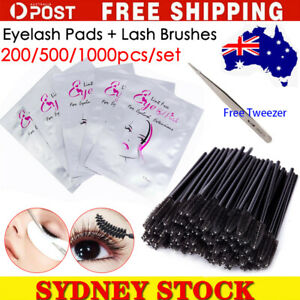 Under Eye Curve Eyelash Pads Brushes Gel Patch Lint Free Lash Extension Beauty