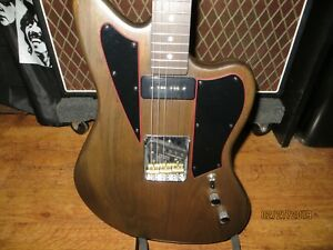 Telemaster Style Electric Walnut Guitar With Hard Shell Case