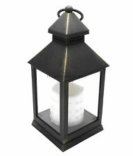 24cm Antique Bronze LED Traditional Hanging Outdoor/Indoor Lantern