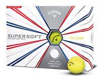 Callaway Supersoft Golf Balls - 1 Dozen Yellow -  Mens