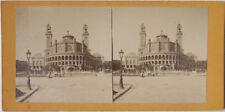 Original 1880er J. Stereofoto PARIS Le Trocadero, Frankreich