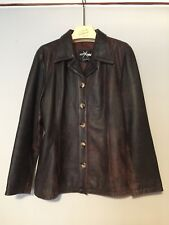 Women's Brown Leather Jacket Size L