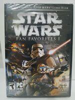 Star Wars Fan Favorites 1 Battlefront 1, 2 and republic Commando (PC, 2010) NEW