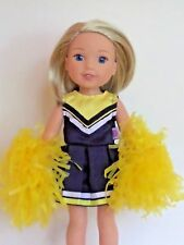 """Blue and Yellow Cheerleader Fits 14.5"""" Wellie Wisher American Girl Doll Clothes"""