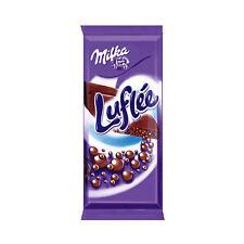 Tablette Milka de 100 gr Mélange de chocolat alpin Milka et luflee / Bublee