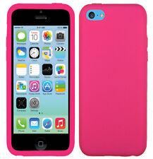 Apple iPhone 5C Rubber SILICONE Soft Gel Skin Case Phone Cover + Screen Guard