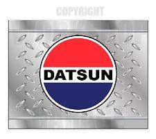 DATSUN - LOGO - CHECKER PLATE LOOK  Stickers