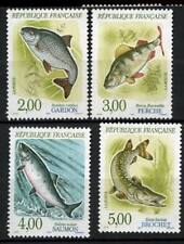 SERIE TIMBRES 2663-2666 NEUF XX LUXE - POISSONS RIVIERE