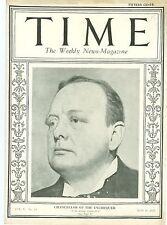 MAGAZINE TIME  WINSTON CHURCHILL  MAY 11 1925