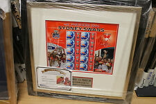 BARRY HALL & PAUL ROOS HAND SIGNED 2005 PREMIERS STAMP SET + PHOTO PROOF & C.O.A