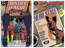 JUSTICE LEAGUE EUROPE 1989 #6 & #23 1ST FULL APP CRIMSON FOX! POWERLESS TV SHOW