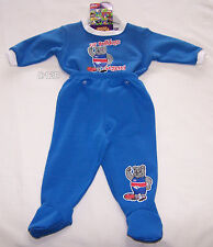 Western Bulldogs AFL Boys Blue Printed 2 Piece Fleece Pyjama Set Size 0 New