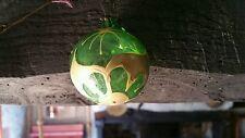 Ancienne boule de Noël XIX 19 ème siècle  églomisé mercurisé 5 cm de diamètre
