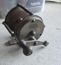 Antique Crown Fishing Tackle Works 200 Chome over Brass Fishing Reel LOOK