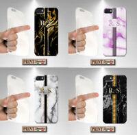 Coque Pour , Huawei, Personnalisé Initiales, Silicone, Doux, Mode, Chic, Marbre