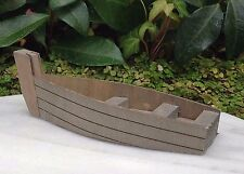Miniature Dollhouse FAIRY GARDEN ~ Sea BEACH Lake Wood Wooden Fishing Boat