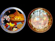 Pair Danbury Mint Collector Plates Garfield Dear Diary With Odie Now For Dessert