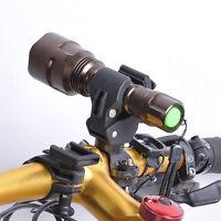 360° Mountain Bicycle Bike LED Torch Front Light Flashlight Mount Bracket Holder