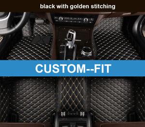 Car Floor Mats Custom Fit for Volkswagen Touareg 2008-2010 Waterproof 3D Carpets