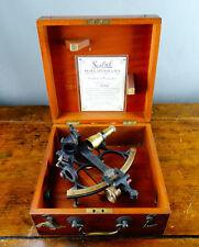 Henry Browne Sestrel sextante Marino marítimo Telescopio Con Estuche Vintage 1940s