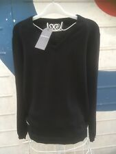BNWT Peter Werth Of London Cotton Black V Neck Jumper Size M