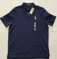 NWT Polo Ralph Lauren MENS POLO T- SHIRT CLASSIC FIT NAVY BIG PONY (L) #100