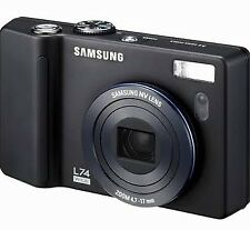 Samsung L74 Wide 7.2Mp Digital Camera with 3.57x Optical Zoom Black
