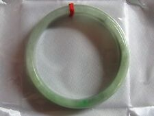 "57mm NATURAL Green Jade Chinese Bangle Bracelet 2-1/4"" #A153"