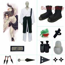 Naruto Shippuden Hyuuga Neji Halloween Cosplay Costume Naruto set with wig