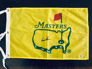 Arnold Palmer signed Silk Pre 1997 Masters Pin flag UNDATED golf BAS BECKETT LOA