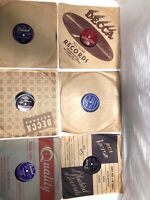 """78 RPM 10"""" Records (lot Of 6) See Photos For Titles & Condition. See Description"""