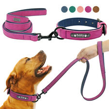 Personalised Dog Collar Leather Safety Collars or Matching Lead Engraved Free