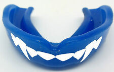 Blue FANGS Gum Shield Mouth Guard Teeth Protector Boxing Wrestling MMA -Senior