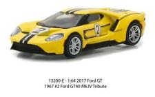 1/64 Greenlight Heritage Racing 2017 Ford GT 40 MK.IV Tribute #2 Yellow 13200E