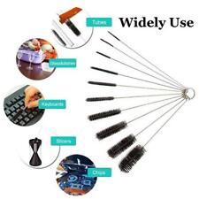 NEW 10 Pcs Airbrush Spray Tip Tattoo Machine Tube Cleaning Brush Kit Set Tool US