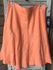 NWT Chaps Skirt Size 10 Orange Malibu Bright Papaya