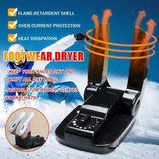 Boot Dryer Portable Folding Shoes Warmer Electric Heat With Timer Black 110V
