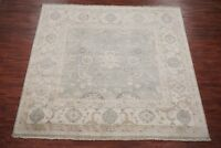 Square 9X9 Oushak Area Rug Veg Dye Antiqued Hand-Knotted Wool Oriental (8.11 x 9