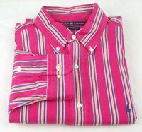 Polo Ralph Lauren Classic Fit Shirt Men's Size Large L Multi Color Striped Pony
