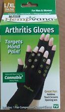Hempvana Arthritis Gloves Targets Hand Pain For Men & Women One Pair Size L/XL