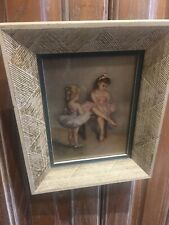 1960 Pal Fried Children Ballerina Painting Litho 9x11 including original Frame
