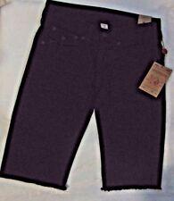 True Religion Straight Flap Cut Off Men Short Pants Black Orig $179.00 NEW W TAG