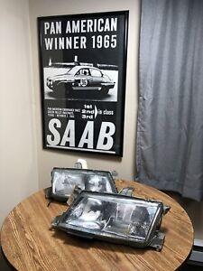 SAAB VALEO 9-5 1999 2000 2001 RH & LH halogen headlamp 5283536 5283528 USED