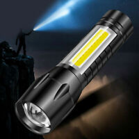 Waterproof LED Torch USB Rechargeable Flashlight Tactical Zoom Camping Lamp