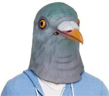 Fancy Dress Halloween Bird Head Mask Latex Pigeon Animal Cosplay Party Costume