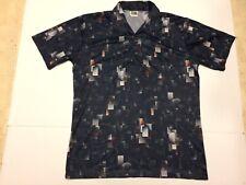 Vintage 1970'S Stuart Mann Of California Geometric Polyester Disco Shirt Large L