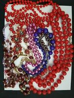 Vintage Lot Of 10 Necklaces All Wearable