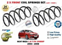 FOR SEAT IBIZA 1.8 T FR 150BHP 2003-2008 2X FRONT LEFT + RIGHT COIL SPRINGS SET