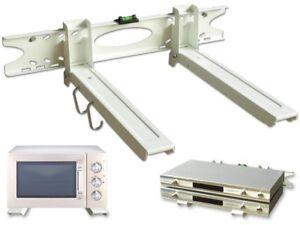 Mikrowellenhalter Microonde Parete Supporto Scaffale Mensola Fissaggio Bianco